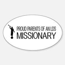 LDS: Proud Missionary Parents (Whit Sticker (Oval)
