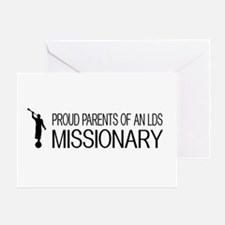 LDS: Proud Missionary Parents (White Greeting Card