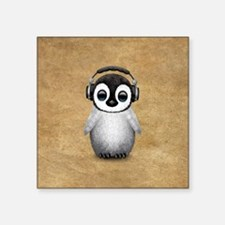 Cute Baby Penguin Dj Wearing Headphones Sticker