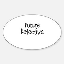 Future Detective Oval Decal