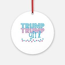 TRump Girl Round Ornament