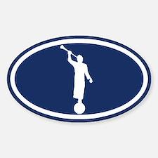 LDS: The Angel Moroni (Blue) Sticker (Oval)