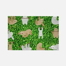 Funny Animals sloth Rectangle Magnet