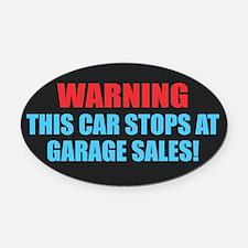 Garage Sales Oval Car Magnet
