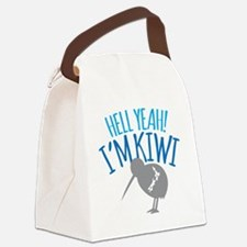 Hell yeah I'm kiwi! Canvas Lunch Bag