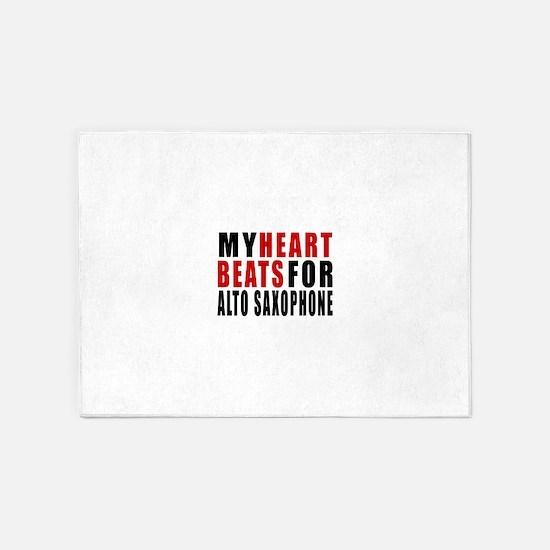My Heart Beats For Alto Saxophone 5'x7'Area Rug