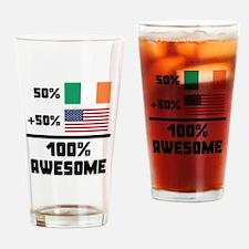 Awesome Irish American Drinking Glass