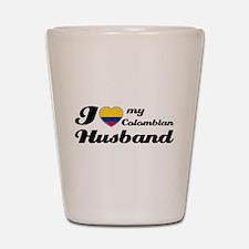 Colombian husband design Shot Glass