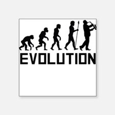 Saxophone Player Evolution Sticker