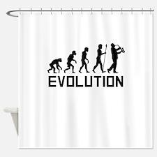 Saxophone Player Evolution Shower Curtain
