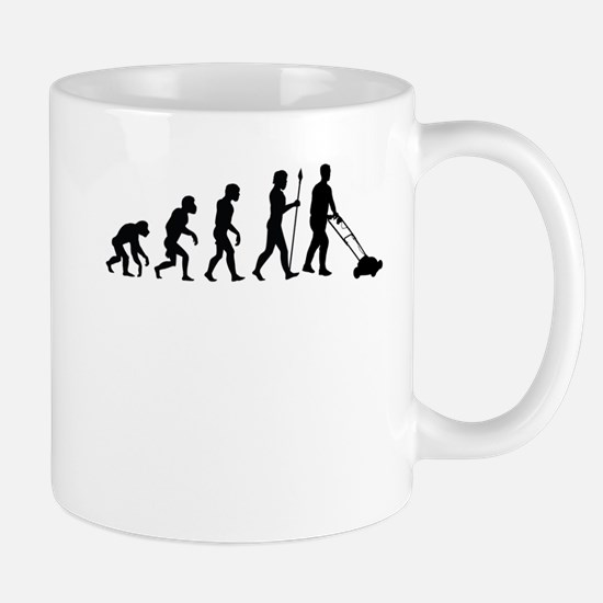 Mowing The Lawn Evolution Mugs