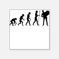 Accordion Player Evolution Sticker