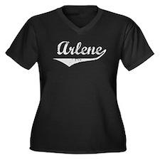 Arlene Vintage (Silver) Women's Plus Size V-Neck D