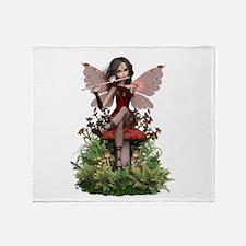 Ceara ~ Flute Fairy Throw Blanket