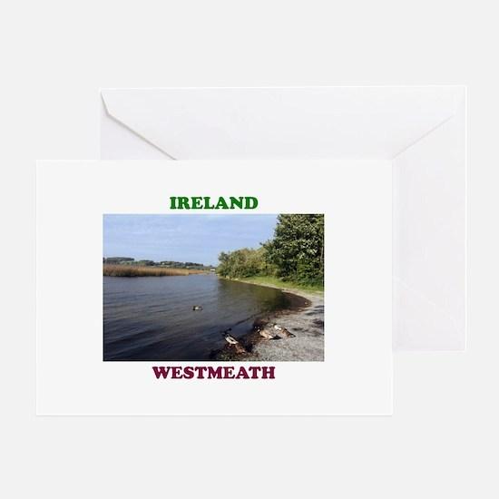 Lough Ree at Portaneena Greeting Card