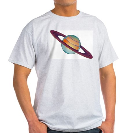 Planet Saturn Ash Grey T-Shirt