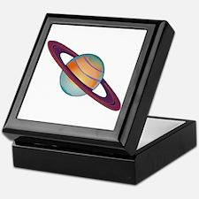 Planet Saturn Keepsake Box