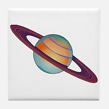 Planet Saturn Tile Coaster