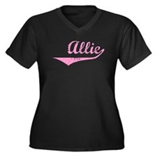 Allie Vintage (Pink) Women's Plus Size V-Neck Dark