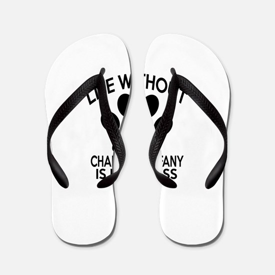 Life Without Chantilly Tiffany Cat Desi Flip Flops