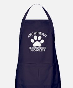 Life Without California Spangled Cat Apron (dark)
