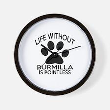 Life Without Burmilla Cat Designs Wall Clock