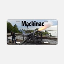 Cannon Firing Aluminum License Plate