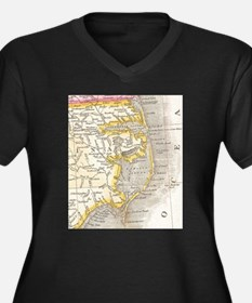Vintage Map of The Outer Banks ( Plus Size T-Shirt