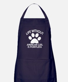 Life Without American Curl Cat Design Apron (dark)