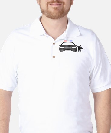 Dog vs Cop Golf Shirt