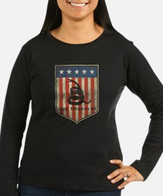 dont tread on me distressed Long Sleeve T-Shirt