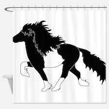 Cute Icelandic horse Shower Curtain
