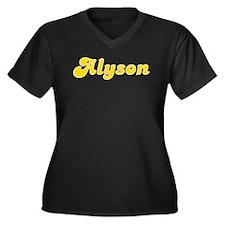 Alyson Fancy (Gold) Women's Plus Size V-Neck Dark