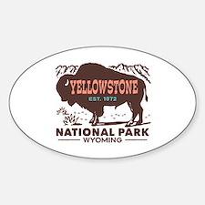 Yellowstone Sticker (Oval)