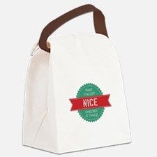 Santa's Nice List Canvas Lunch Bag