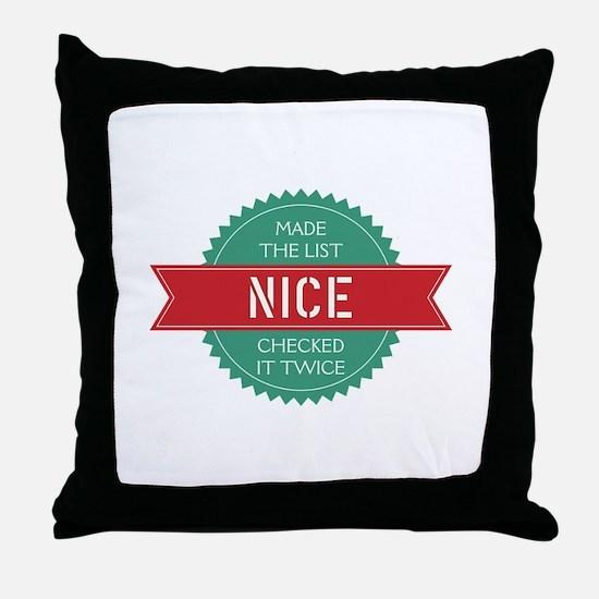Santa's Nice List Throw Pillow