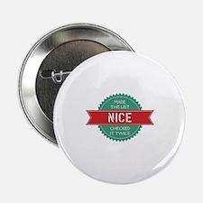 """Santa's Nice List 2.25"""" Button"""