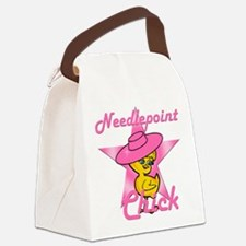 Needlepoint Chick #8 Canvas Lunch Bag