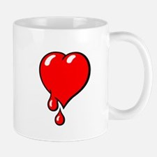 Red Bleeding Heart liberal Mugs