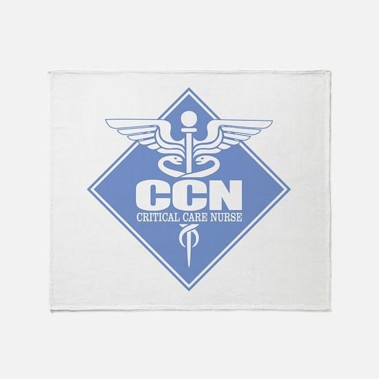 Critical Care Nurse Throw Blanket