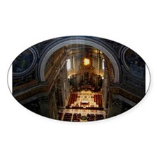 st. peter's basilica Oval Decal