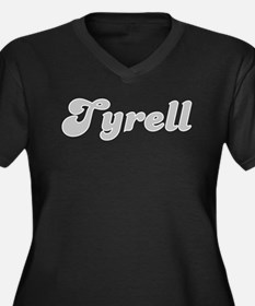 Tyrell Fancy (Silver) Women's Plus Size V-Neck Dar