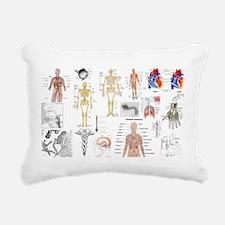 Human Anatomy Charts Rectangular Canvas Pillow