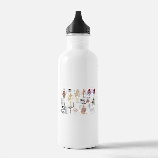 Human Anatomy Charts Water Bottle