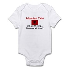 Good Looking Albanian Twin Infant Bodysuit