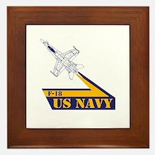 US NAVY Hornet F-18 Framed Tile