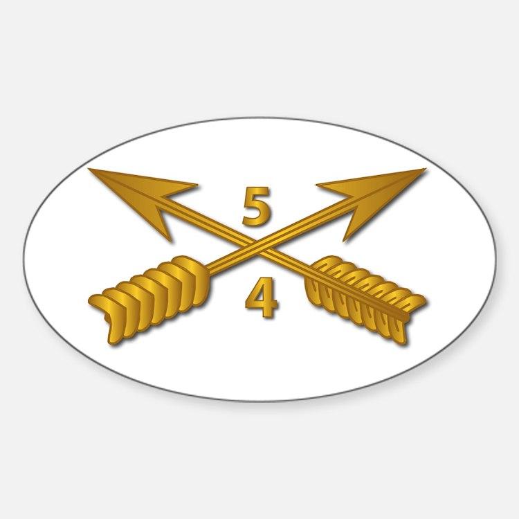 4th Bn 5th SFG Branch wo Txt Sticker (Oval)