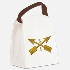 1st Bn 5th SFG Branch wo Txt Canvas Lunch Bag