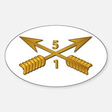 1st Bn 5th SFG Branch wo Txt Sticker (Oval)
