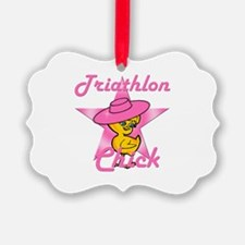 Triathlon Chick #8 Ornament